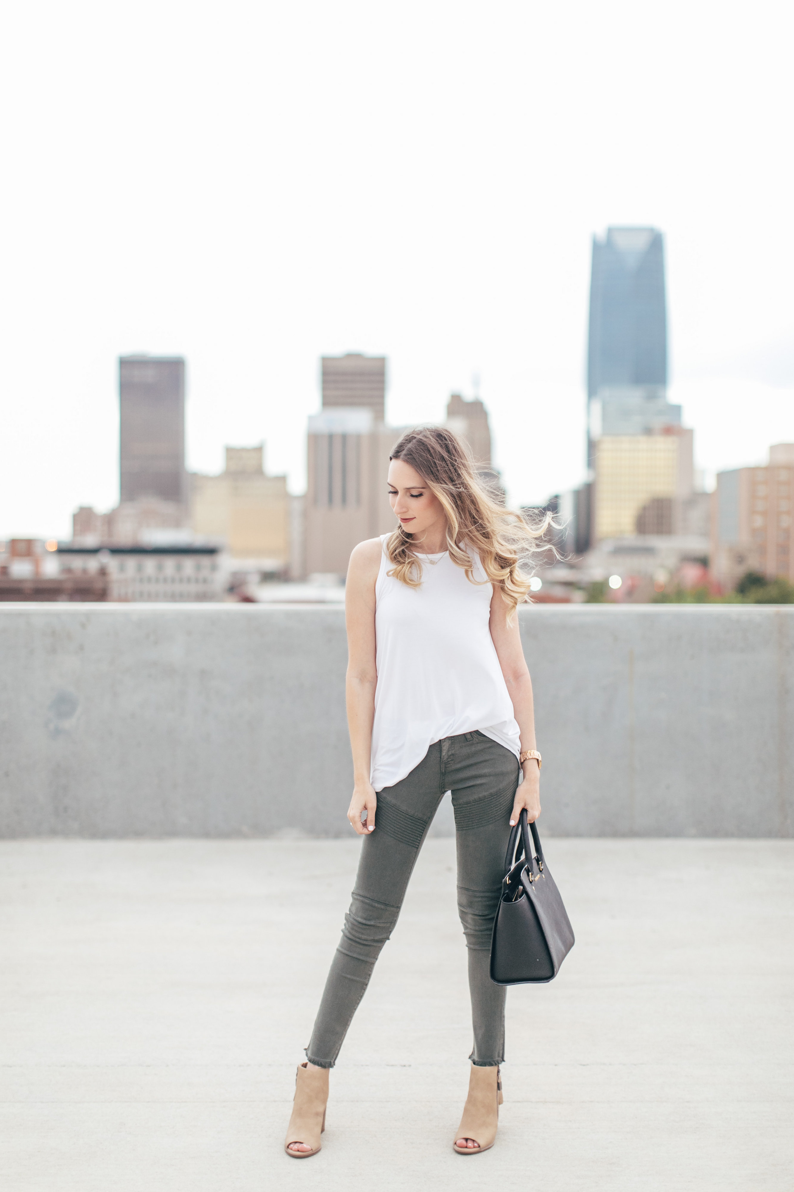 Forest Green Moto Jeans